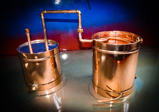 TDN- 30 Gallon Copper Moonshine Still / Liquor Distillation Unit - The Distillery Network Inc