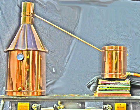 Copper Distiller with No Thumper (wide range of sizes available)