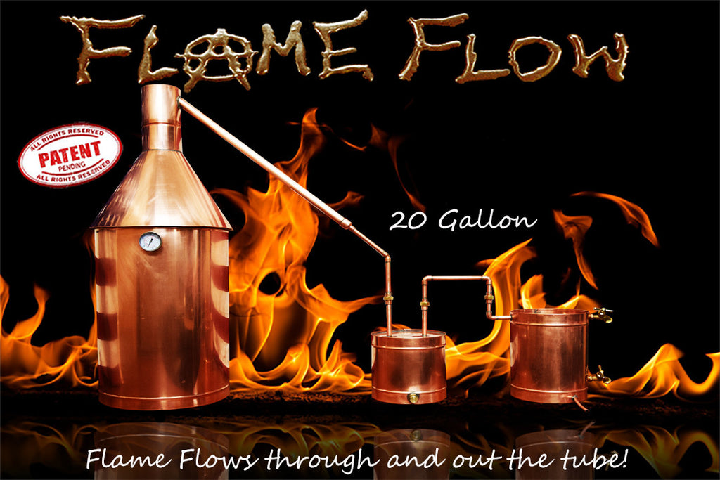 TDN - Flame Flow™ 20 Gallon Copper Moonshine Liquor Distillation Unit - The Distillery Network Inc