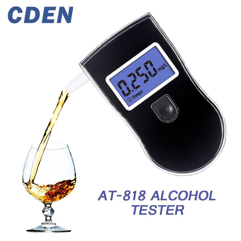 Alcohol Tester Digital Breath Quick Response Breathalyzer for Drunk Drivers