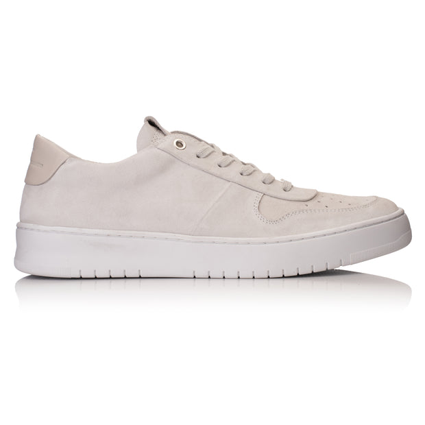 Bennet Getaway Low White Leather Suede - HINSON STUDIOS