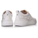 PACE PADDED LOW White - Leather Plain