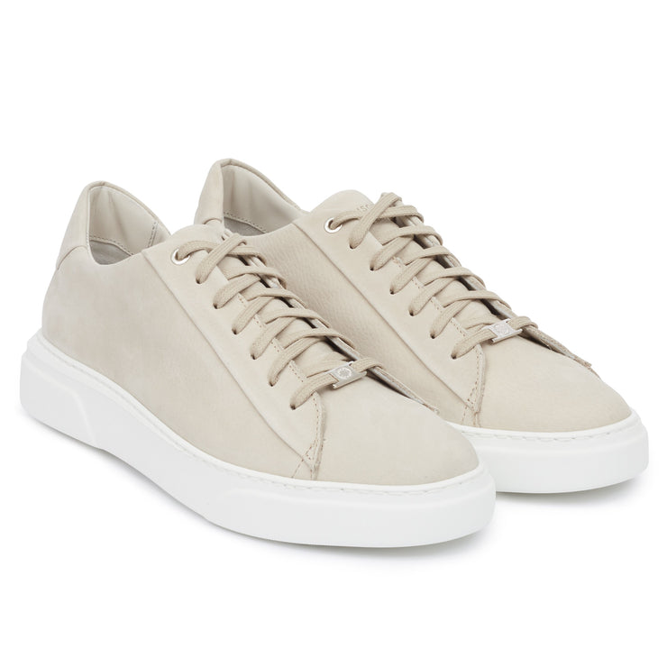 KEA BASE LOW Beige Leather Nubuck - HINSON STUDIOS