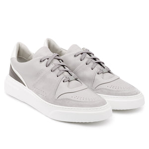 KEA CIME LOW Lt Grey - Leather Plain