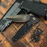 Microtech Socom Elite  Signature Series, DLC Finish, Folding Knife  160-1DLCS