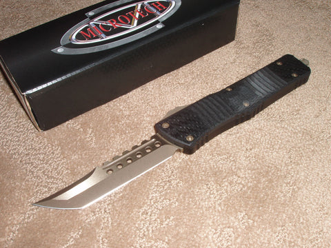 Microtech Combat Troodon  Hell Hound, Carbon Fiber, Bronze Blade, OTF Knife. 219-13CF