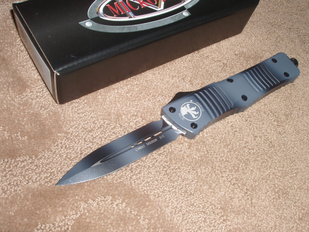 Microtech Combat Troodon D/E, Standard, Urban Camo, OTF Knife   142-1UC