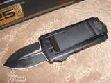 Microtech Exocet, Money Clip, Black Tactical, OTF Knife 157-1T
