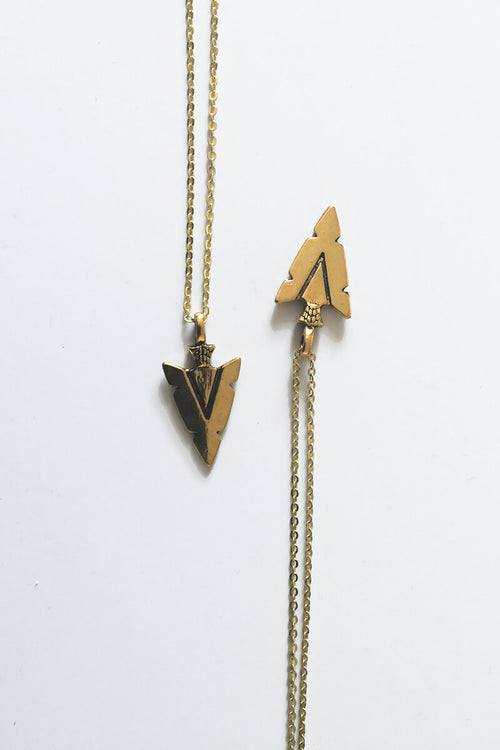 Arrow Head Necklace - Gold