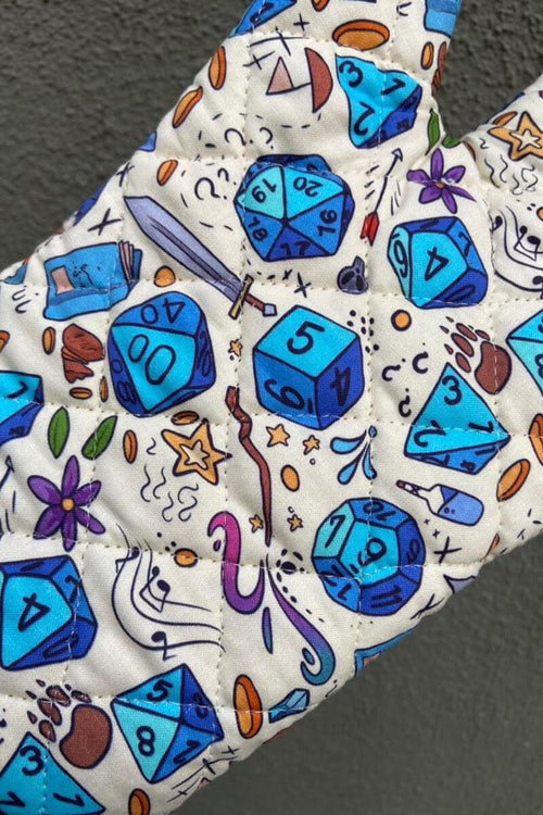 Blue Dice Oven Mitt