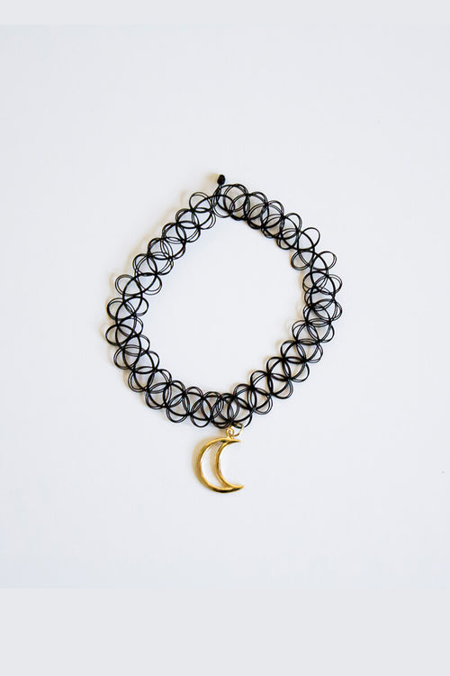 Crescent Moonlit Choker