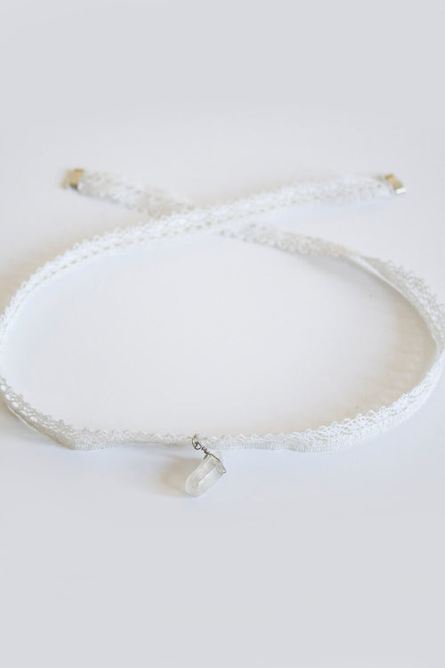 Crystalite Laced Necklace