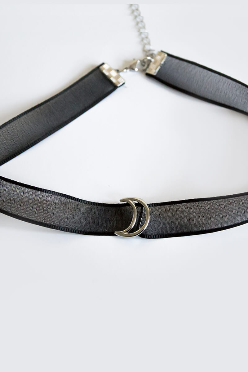 Sheer Moon Choker - Black