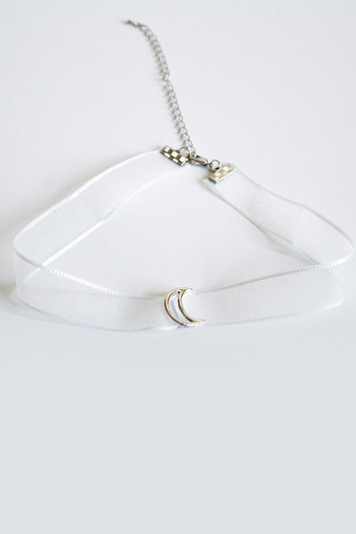 Sheer Moon Choker - White