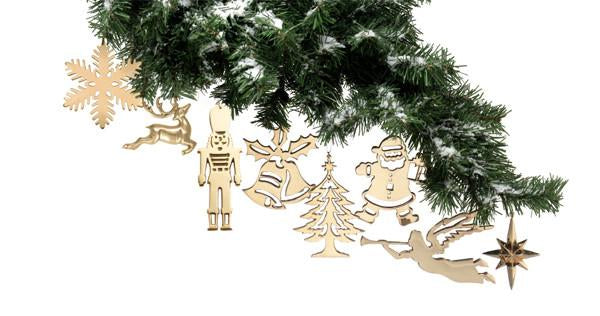 Jefferson Brass Christmas Ornaments. Brass Christmas Ornaments