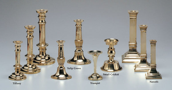 Jefferson Brass Candlesticks. Traditional and Contemporary brass candlestick holders
