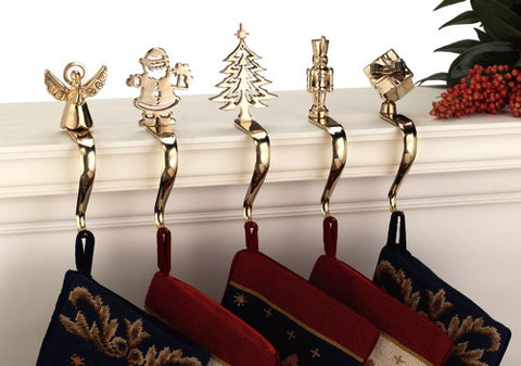Brass Christmas Stocking Holders and Stocking Hangers