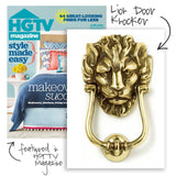 Brass Lion Door Knocker - HGTV Magazine