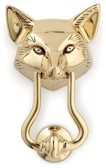 Jefferson Brass Fox Door Knocker