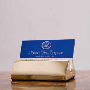Brass Business Card Holder - Jefferson Brass Company