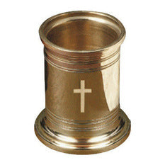 Engraved Cross Pencil Cup - Jefferson Brass Company