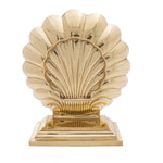 Art Deco Double Shell Bookend - Jefferson Brass Company