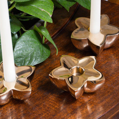 Tulip Flower Candle Holder - Jefferson Brass Company