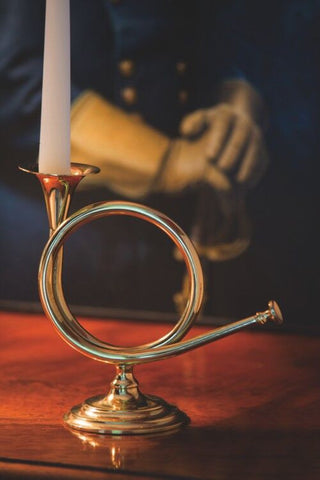 Fox Horn Candlestick - Jefferson Brass Company