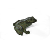 Brass Garden Frog Ornament with Verdigris Patina - Jefferson Brass Company