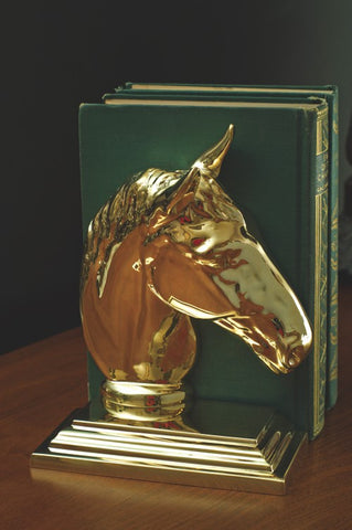Horse Head Brass Bookend - Jefferson Brass Company