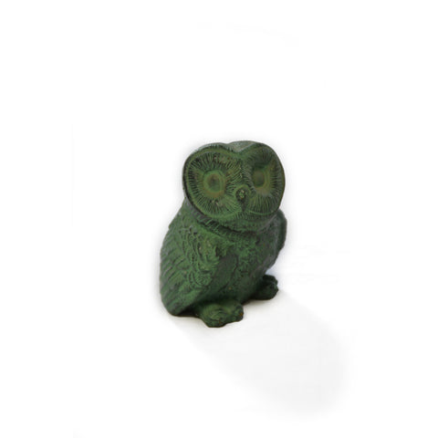 Brass Owl with Verdigris Patina - Jefferson Brass Company