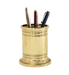 Executive Brass Pencil Cup and Holder - Jefferson Brass Company