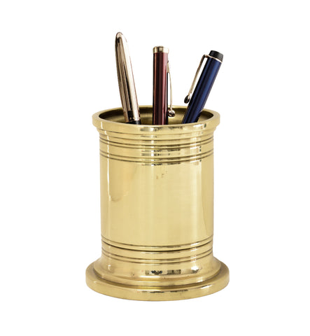 Executive Brass Pencil Cup and Holder
