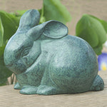 Brass Rabbit Garden Ornament #1 with Verdigris Patina - Jefferson Brass Company