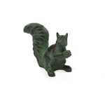 Brass Squirrel Garden Accent with Verdigris Patina - Jefferson Brass Company