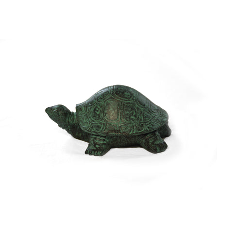 Brass Turtle with Verdigris Patina - Jefferson Brass Company