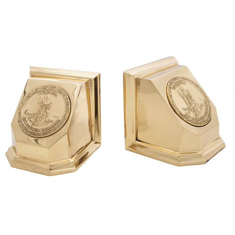 Virginia State Bookend (Pair) - Jefferson Brass Company