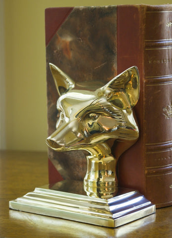 Fox Bookend and Door Stop - Jefferson Brass Company