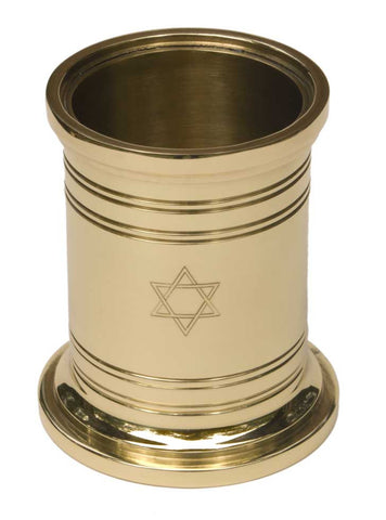 Star of David Pencil Cup - Jefferson Brass Company