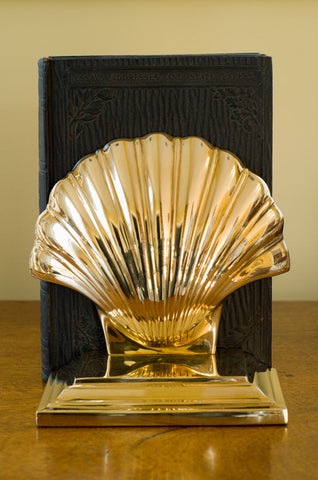 Shell Bookend and Door Stop - Jefferson Brass Company