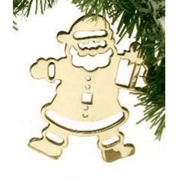 Silhouette Santa Ornament - Jefferson Brass Company