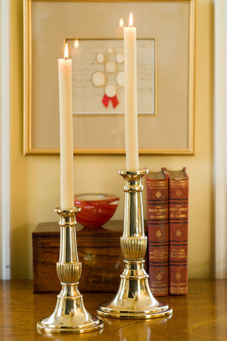 Tulip Grove Brass Candle Holder - Jefferson Brass Company