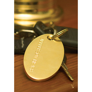 Engravable Brass Key Ring and Luggage Tag - Jefferson Brass Company