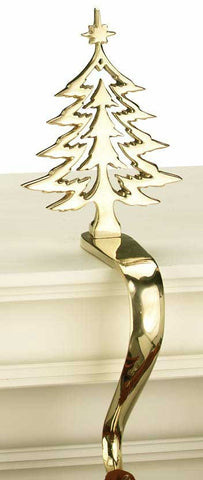 Silhouette Tree Stocking Holder - Jefferson Brass Company