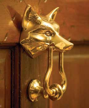 Fox Door Knocker - Jefferson Brass Company