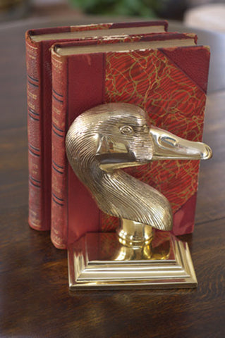 Goose Bookend and Door Stop - Jefferson Brass Company