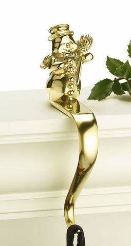 Snowman Stocking Holder - Jefferson Brass Company
