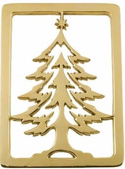 Christmas Tree Holiday Trivet - Jefferson Brass Company