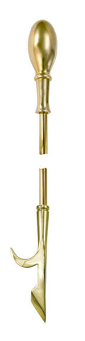 Elliptical Brass Firetool Poker - Jefferson Brass Company