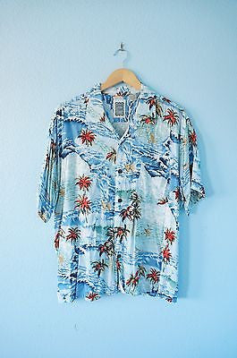 Tropical Hawaiian Button Up Shirt - Mens M